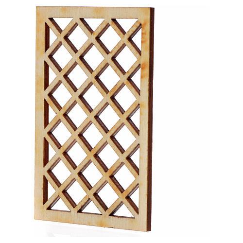 Inferriata presepe legno 7x4,5 cm 2