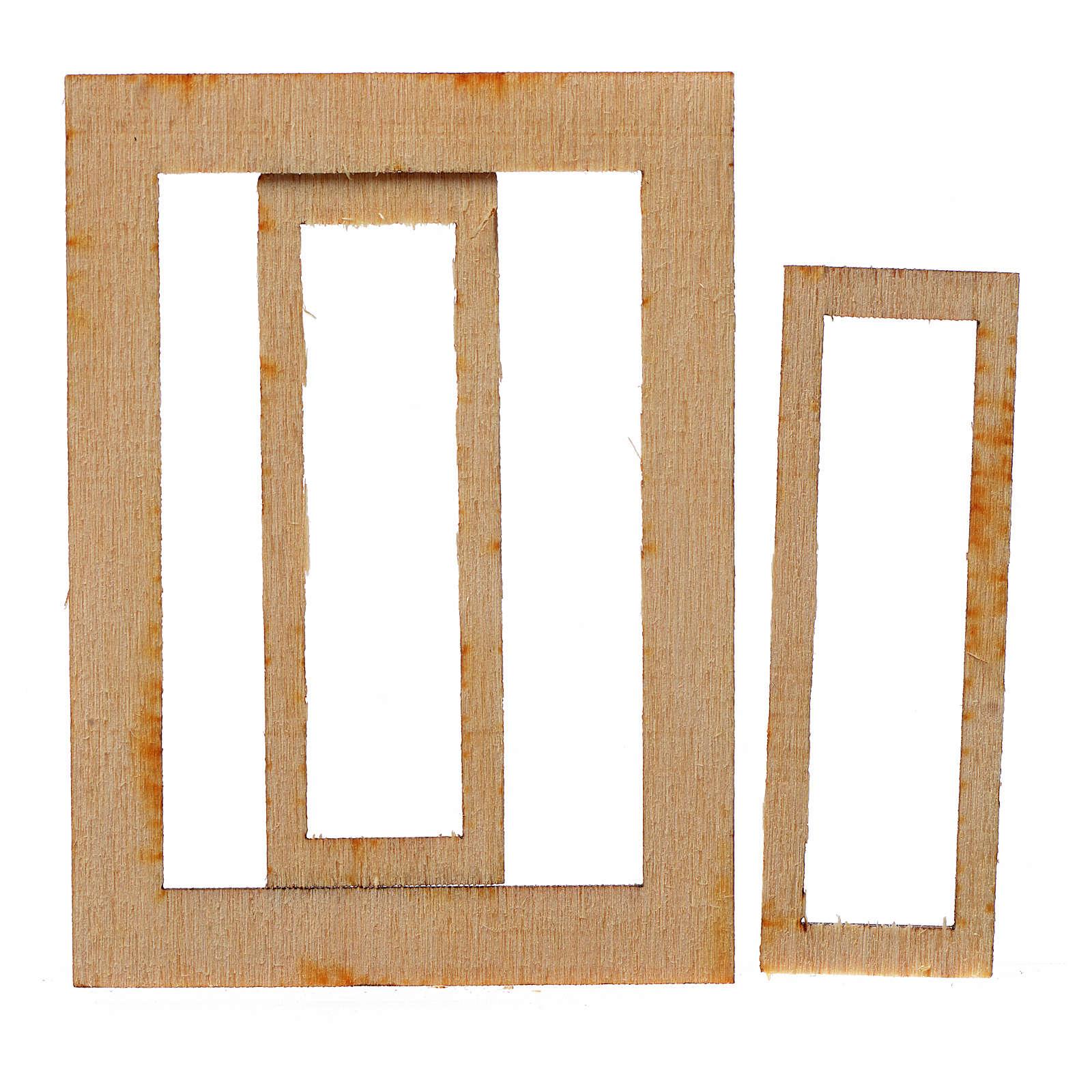 Infisso legno presepe 7,5x5 cm 4