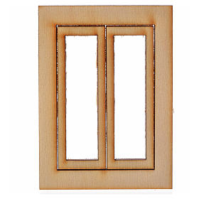 Infisso legno presepe 7,5x5 cm s1