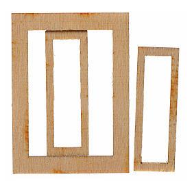 Infisso legno presepe 7,5x5 cm s2