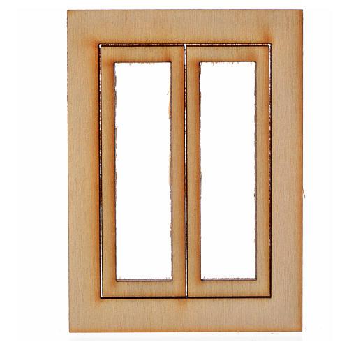 Infisso legno presepe 7,5x5 cm 1