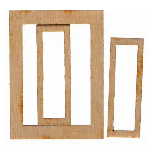 Infisso legno presepe 7,5x5 cm 2