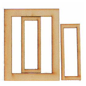 Infisso legno presepe 6,5x5 cm s2
