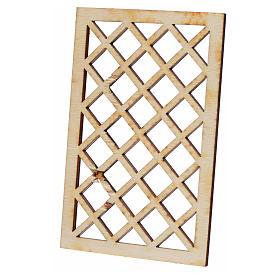 Verja belén de madera 9,5x6 cm s2