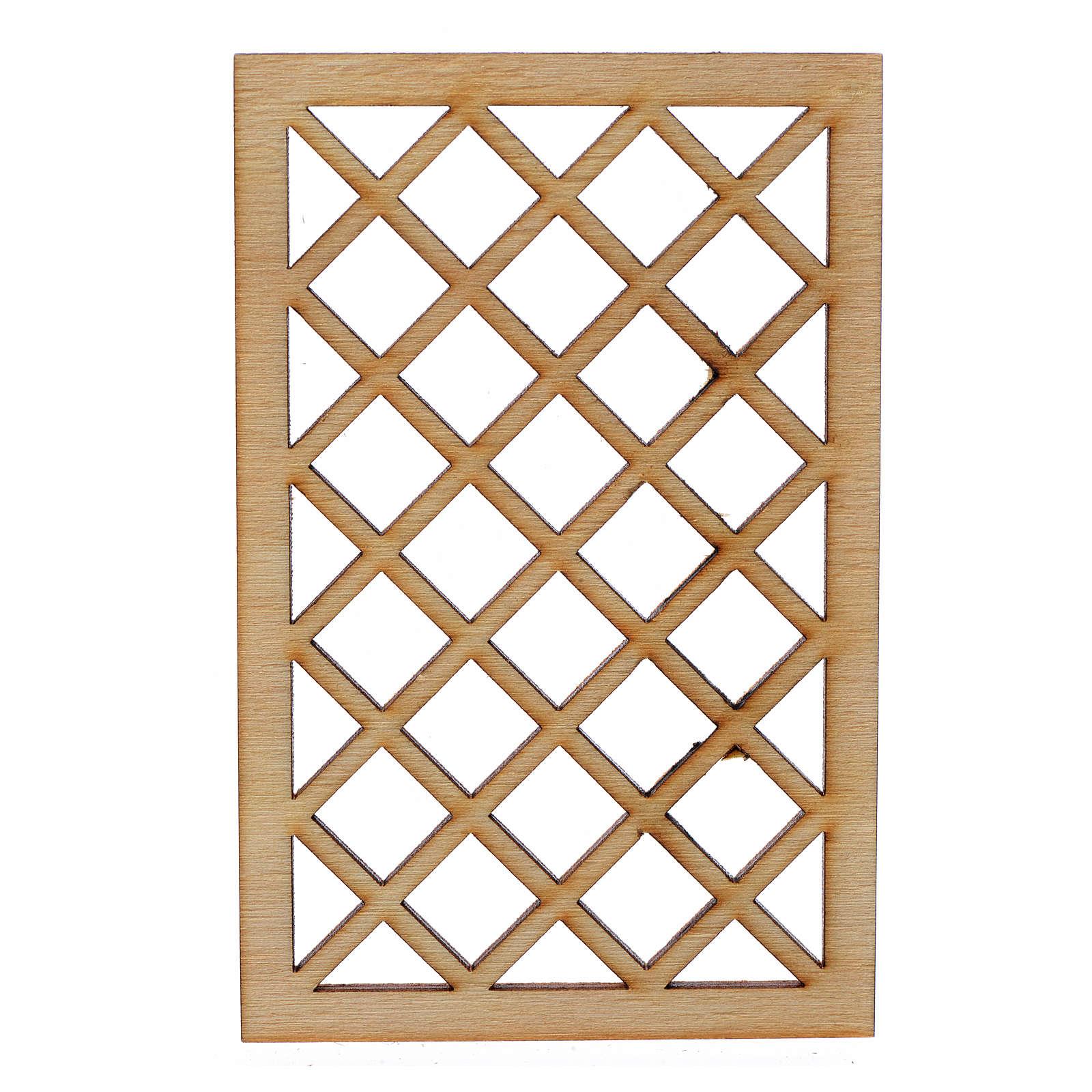 Grille de fenêtre en miniature pour crèche 9,5x6 4