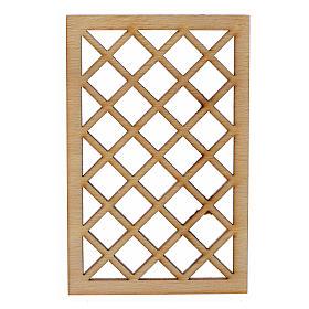 Grille de fenêtre en miniature pour crèche 9,5x6 s1