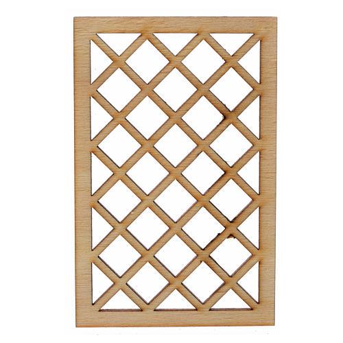 Grille de fenêtre en miniature pour crèche 9,5x6 1