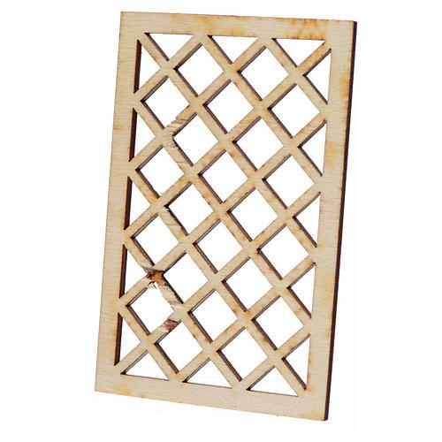 Grille de fenêtre en miniature pour crèche 9,5x6 2