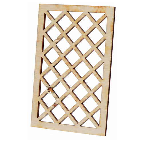 Nativity accessory, wooden bars 9.5x6cm 2
