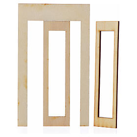 Infisso legno presepe 15x9 cm s2