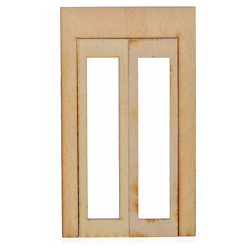 Infisso legno presepe 15x9 cm 1