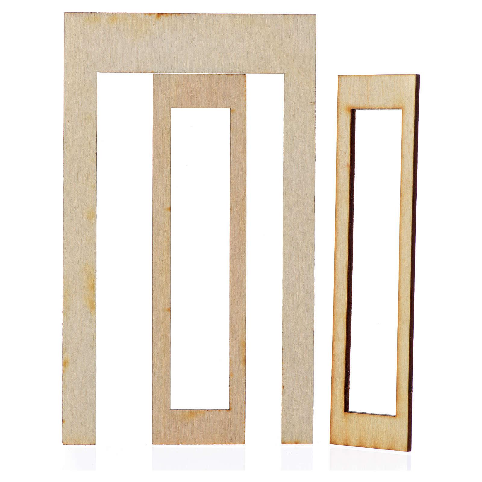 Nativity accessory, wooden frame 15x9cm 4