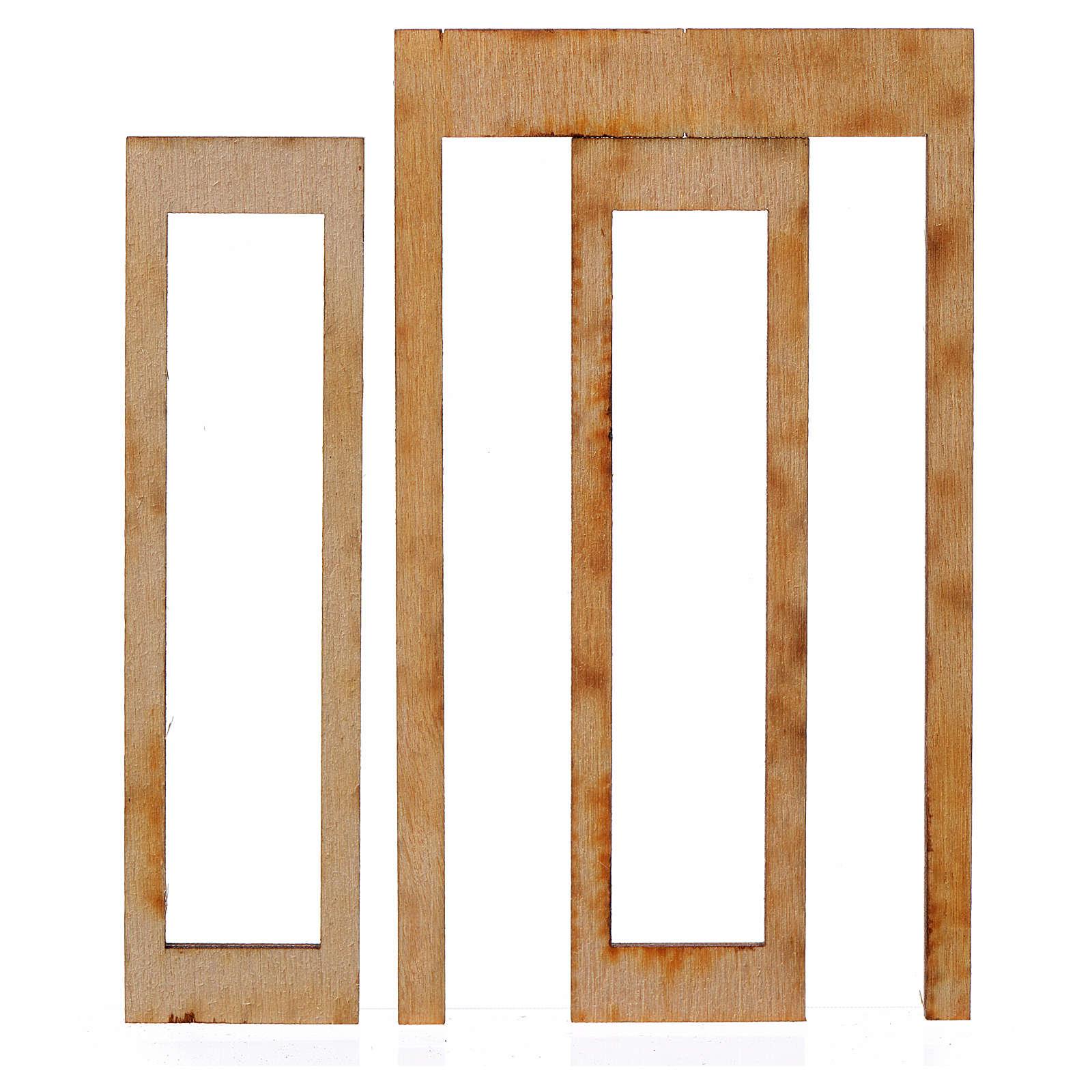 Infisso legno per presepe 9x5 cm 4