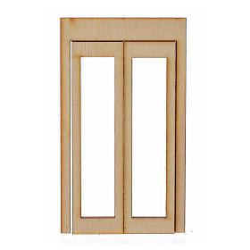 Infisso legno per presepe 9x5 cm s1