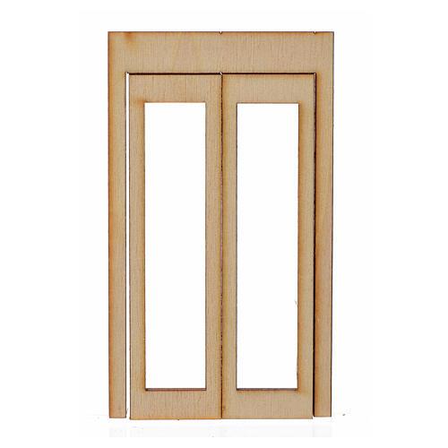 Infisso legno per presepe 9x5 cm 1