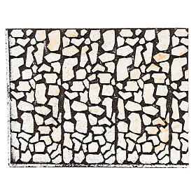 Nativity scene background: Nativity scene backdrop, cork panel with stone bricks drawing 24