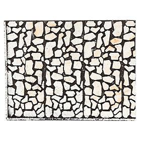 Pannello in sughero pietra sfalzata per presepe 24,5x33 cm s1