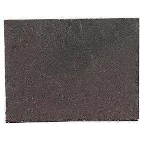 Pannello in sughero pietra sfalzata per presepe 24,5x33 cm s2
