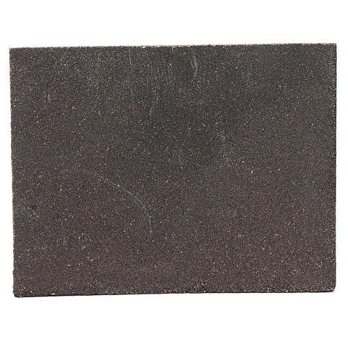 Pannello in sughero pietra sfalzata per presepe 24,5x33 cm 2