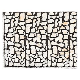 Paisagens, Cenários de Papel e Painéis para Presépio: Painel em cortiça pedra irregular para presépio 24,5x33 cm