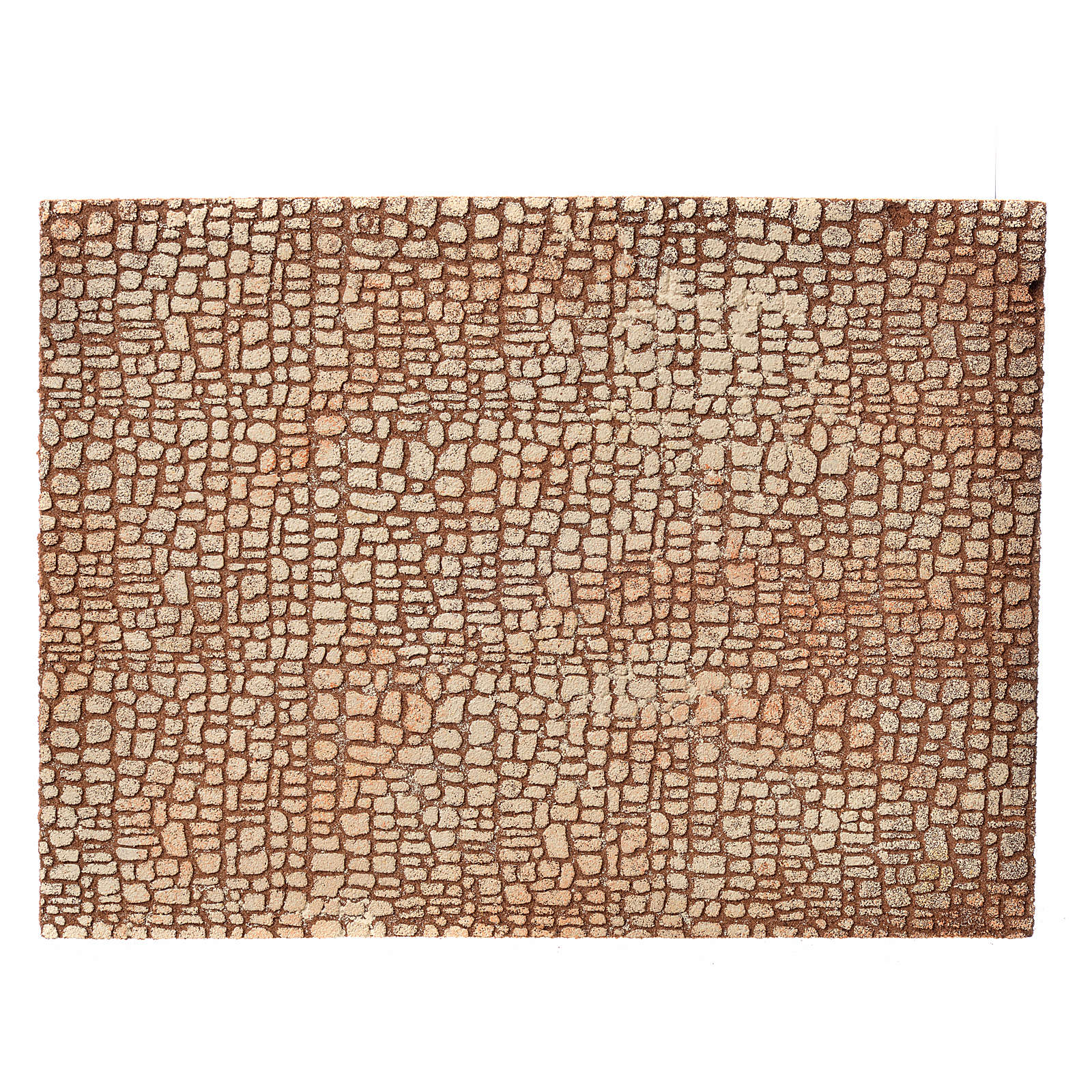 Nativity scene backdrop, cork panel with stone drawing 24,5x33cm 4