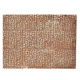 Nativity scene backdrop, cork panel with stone drawing 24,5x33cm s1