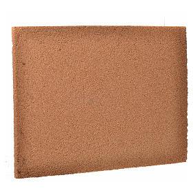 Pannello sughero presepe disegno pietra 24,5x33 cm s2