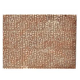 Paisagens, Cenários de Papel e Painéis para Presépio: Painel cortiça presépio desenho pedra 24,5x33 cm