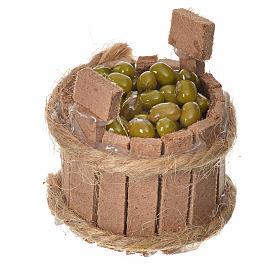 Tino in legno con olive per presepe h3,5 cm s2
