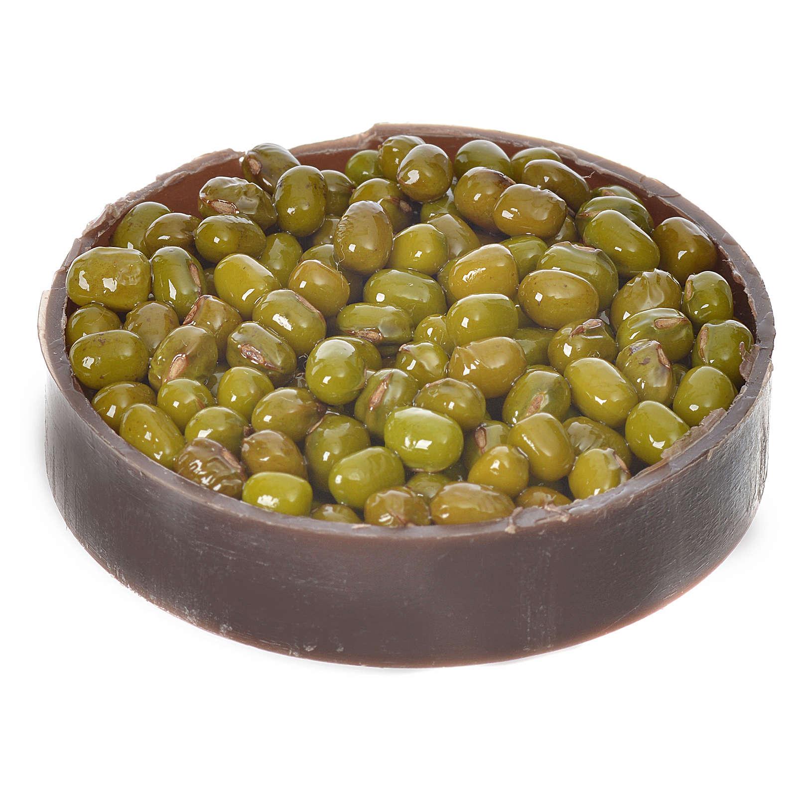 Nativity accessory, plastic box with olives, diam. 5cm 4