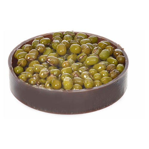 Nativity accessory, plastic box with olives, diam. 5cm 1