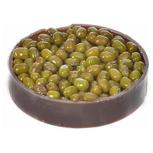Cassetta in plastica con olive per presepe diam 5 cm 2