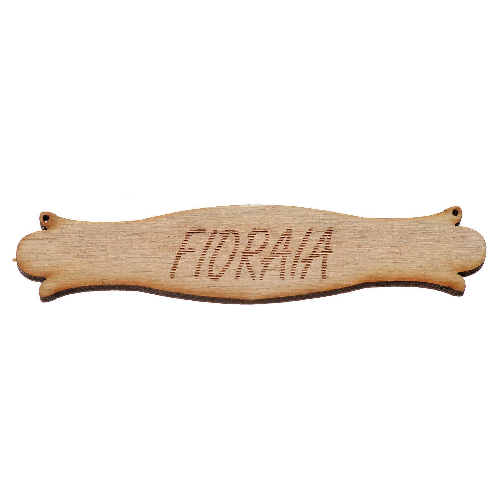 Insegna presepe Fioraia 8,5 cm in legno 4