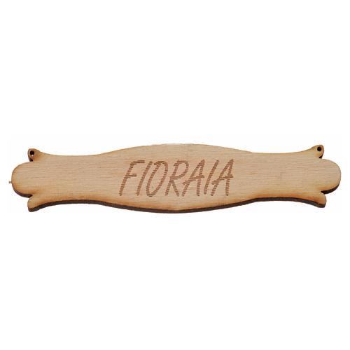 Insegna presepe Fioraia 8,5 cm in legno 1