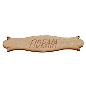 Acessórios de Casa para Presépio: Placa presépio florista 8,5 cm madeira