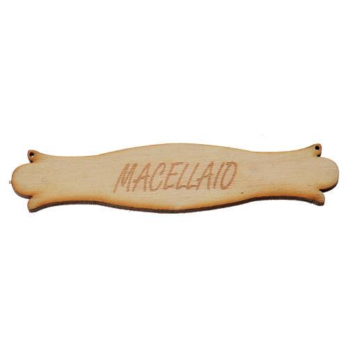 Letrero Carnicería 8.5 cm. en madera 1
