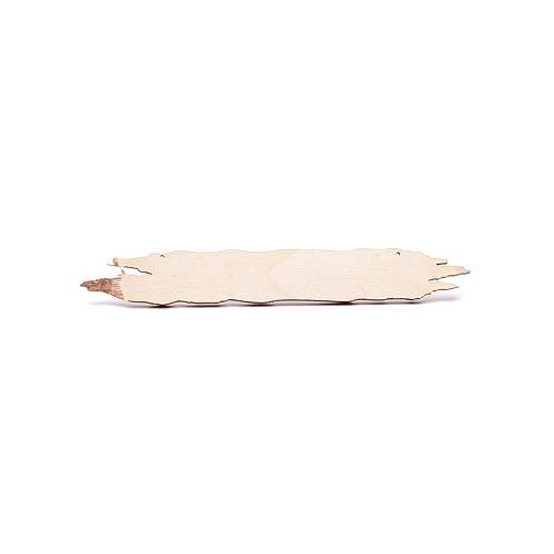 Insegna presepe Pizzeria 14 cm in legno 2