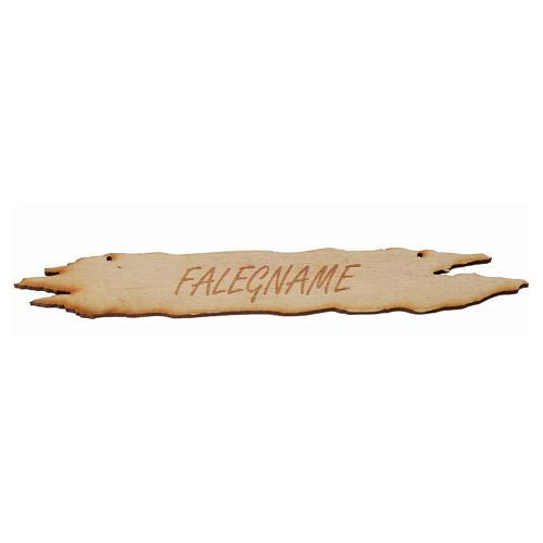 Insegna presepe Falegname 14 cm in legno 1