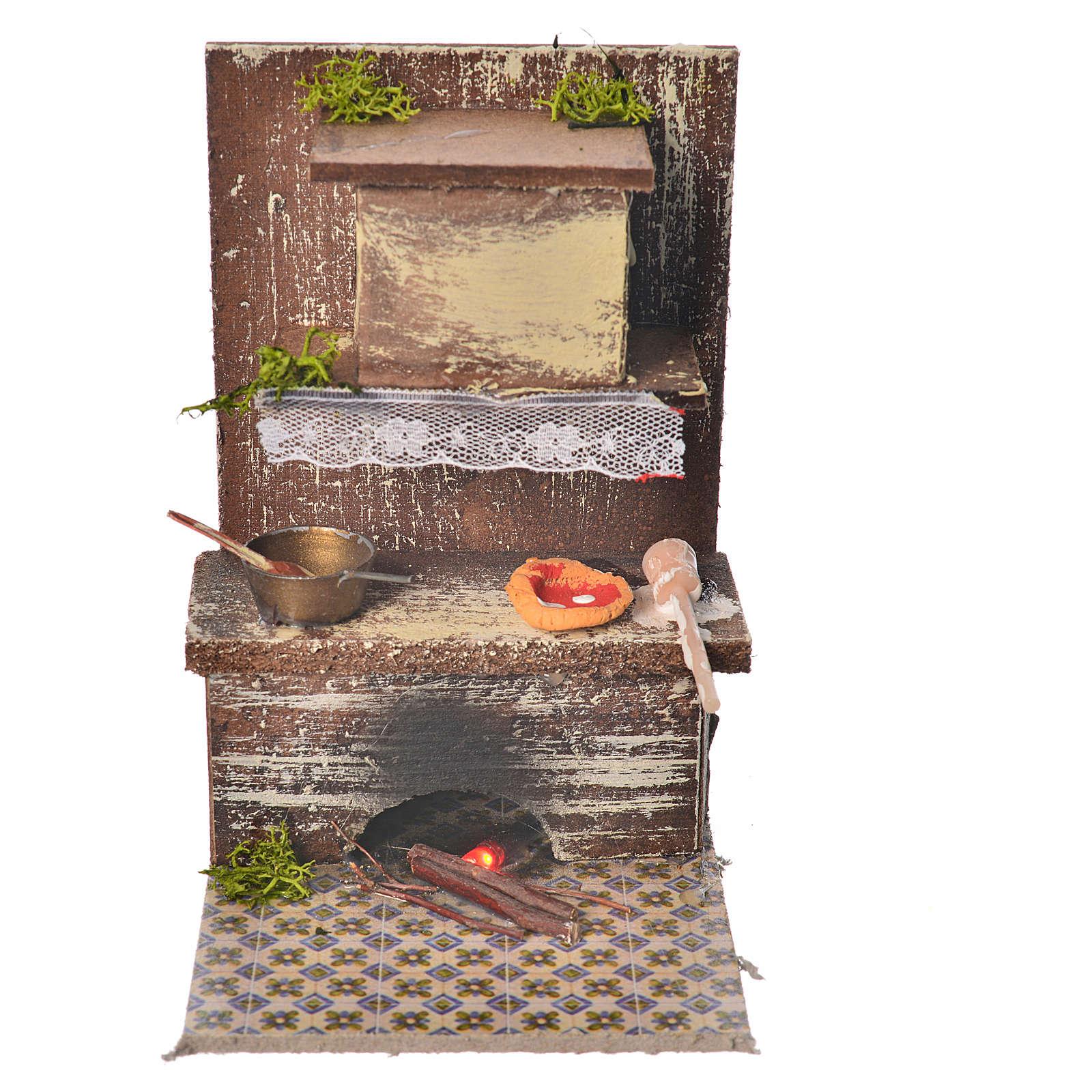 Cucina con 1 led rosso tremolante cm 9x9,5x15 4