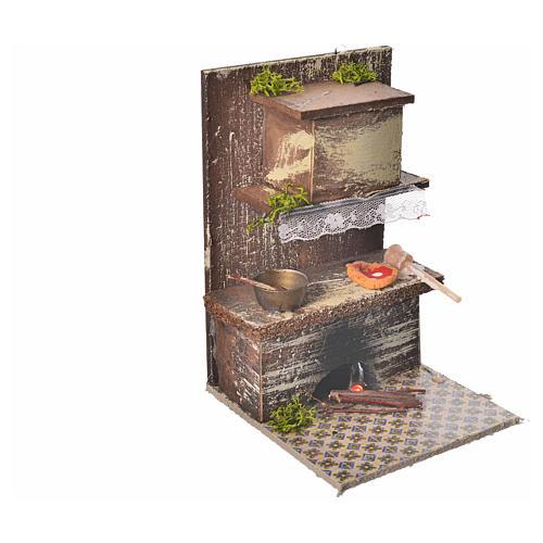 Cozinha com 1 Led vermelho tremulante 9x9,5x15 cm 2