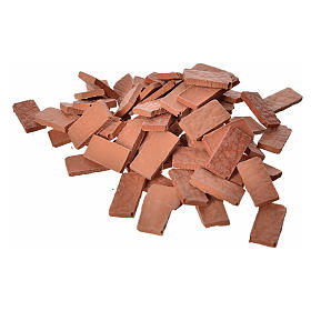 Acessórios de Casa para Presépio: Ladrinhos rectangulares resina 15x7 mm 100 peças