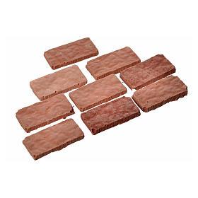 Rectangular tiles in resin, grey 15x7mm 100 pieces s2