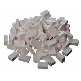 Bricks in resin, grey 10x7mm 100 pieces s1