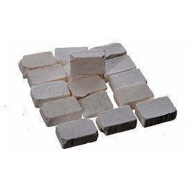 Bricks in resin, grey 10x7mm 100 pieces s2