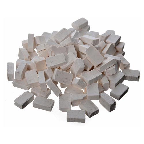 Tijolos cinzentos resina 10x7 mm 100 peças 1
