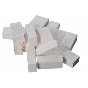 Acessórios de Casa para Presépio: Tijolos resina cinzentos 20x10 mm 16 peças