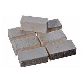 Bricks in resin, grey 20x10mm 16 pieces s2