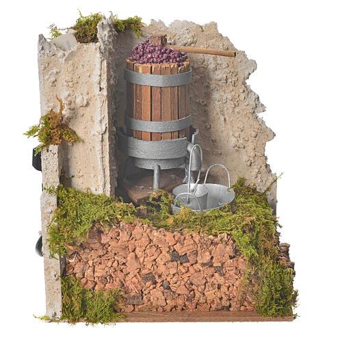 Nativity accessory, press with pump 15x10x15cm 3