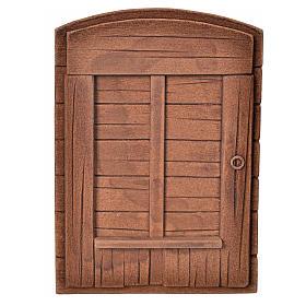 Porta in gesso color legno per presepe fai da te s1