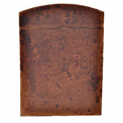 Porta in gesso color legno per presepe fai da te 2